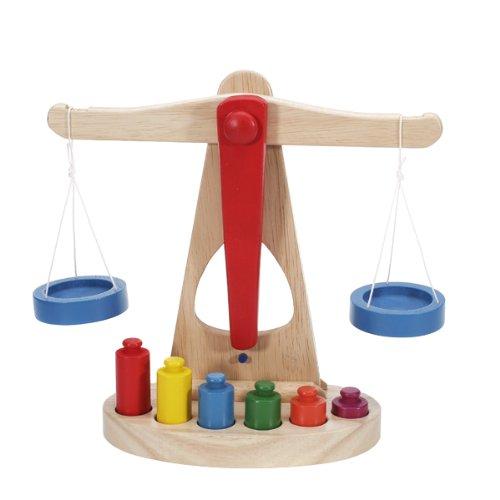 Children Toy Balance Scale w Wooden Weights