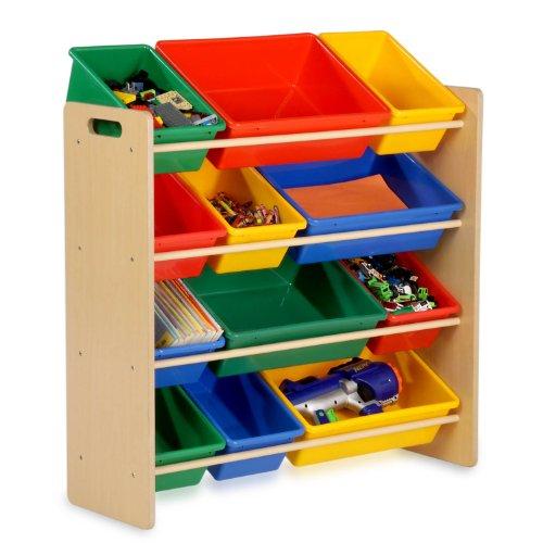 Honey-Can-Do SRT-01602 Kids Toy Organizer and Storage Bins NaturalPrimary