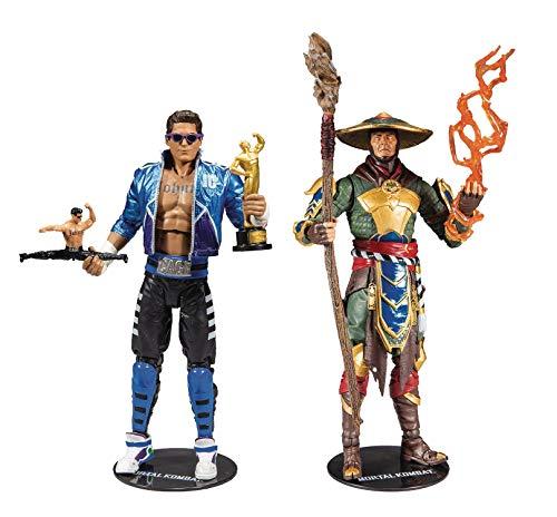 McFarlane Toys Mortal Kombat Johnny Cage and Raiden Action Figure Set
