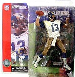 McFarlane Toys NFL Sports Picks Series 1 Action Figure Kurt Warner St Louis Rams White Jersey Dirty Variant