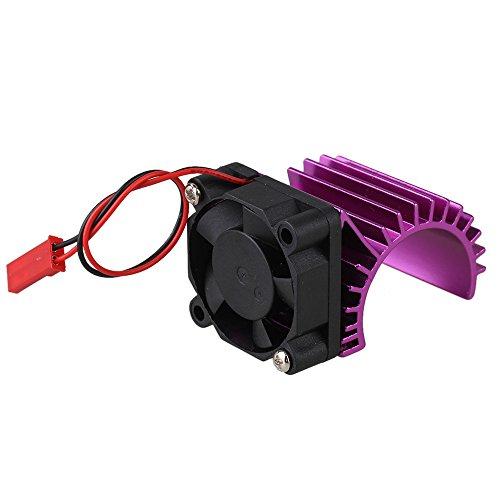 Mxfans 308004 Purple Aluminum Alloy 380 Motor heatsink with Fan for RC 116 Car Motor Heat sink