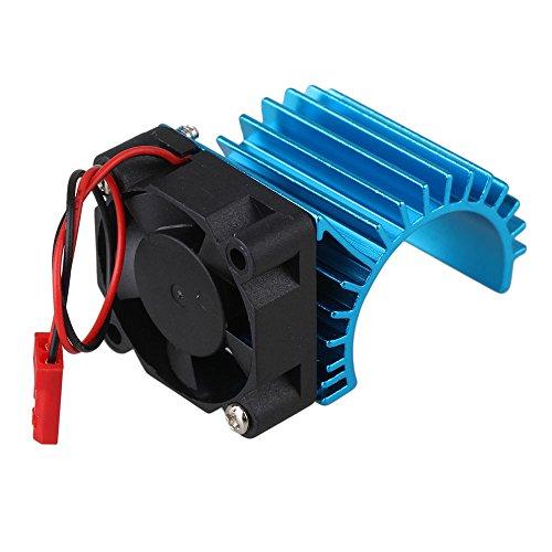 Mxfans 308006 Blue Aluminum Alloy 380 Motor heatsink with Fan for RC 116 Car Motor Heat sink