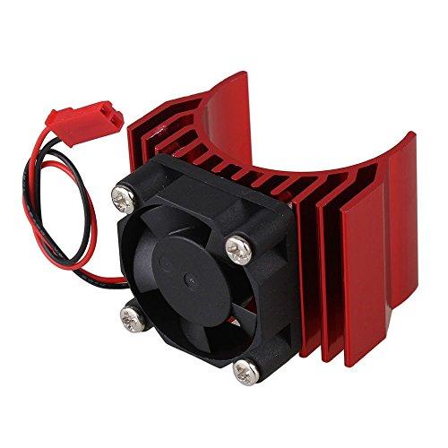 Mxfans N10095 Red Aluminum Alloy plastic Motor heatsink with Fan for RC 110 Car 540 550 Motor Heat sink