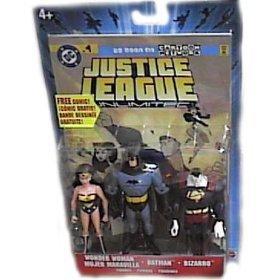 Justice League Unlimited Wonder Woman Batman Bizarro Action Figure Set