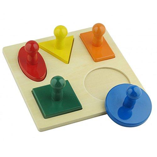 Montessori Toddler Materials Geometric Shape Puzzle Board Preschool Toy