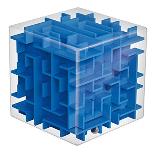 Three-dimensional Blue Opaque Cube Maze Preschool Toys Educational Toys