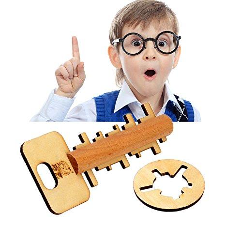 gangnumsky- Toy-Bamboo Unlock Key Adult Educational Toys kids Intelligence Preschool Toy for Kids Children Adult