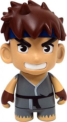 Kidrobot Street Fighter Ryu Collectible Mini Figure Grey