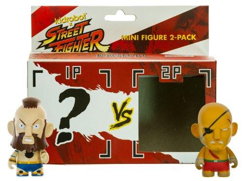 Sagat vs Zangief 2 Street Fighter x KidRobot ~3 2-Mini-Figure Pack Series