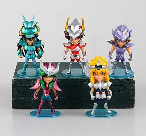 Linker Wish New 10cm 5pcsSet Q Version Saint Seiya Action Figure Toys no Box