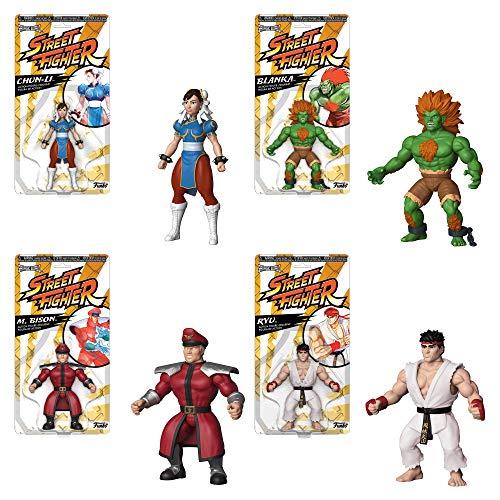 Funko Savage World Bundle of 4 Street Fighter - Ryu Blanka Chun-Li and M Bison