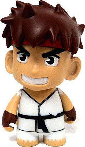 Kidrobot Street Fighter Ryu Collectible Mini Figure White