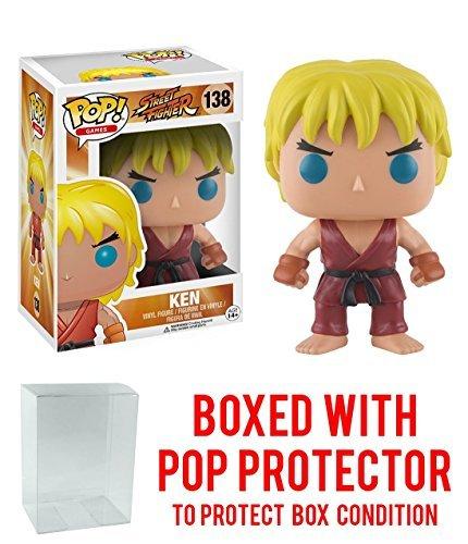 Funko Street Fighter Ken Pop Games Figure Bundled with Protector