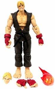 Street Fighter Round 2 Ken Brown Gi Variant GameStop Exclusive Action Figure