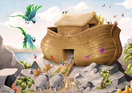 Hot New Unique Toy Kids Noahs Ark 3d Biblical Augmented Reality Puzzle 126 Pcs