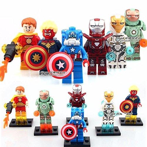 6 SetsLots Building Toys Super Heroes Minifigures Block Toys