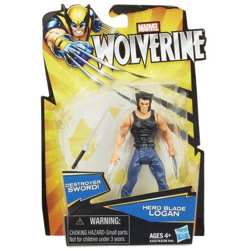 Marvel Wolverine Action Figure Hero Blade Logan 375 Inch