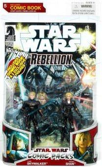 Star Wars 2009 Comic Book Action Figure 2-Pack Stealth Armor Luke Skywalker and Deena Shan