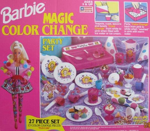 Barbie Magic COLOR CHANGE PARTY SET 27 Piece CHILD SIZE Set CASE 1992