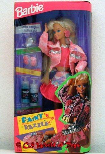 Barbie Paint N Dazzle Doll Set Blonde 1993