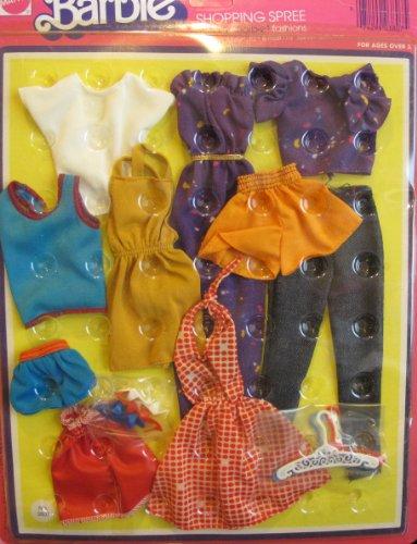 Barbie SHOPPING SPREE FASHIONS Genuine CLOTHES w Shoes Hangers 1975 Mattel Hawthorne