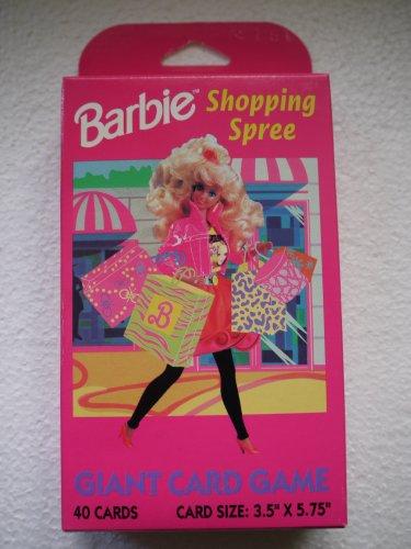 Barbie Shopping Spree Giant Card Game 1991 - Rare