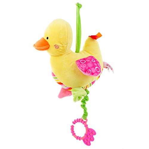 GIFTSHOP101 9 Cute Duck Baby Pull String Musical Plush Baby Toy - Pink