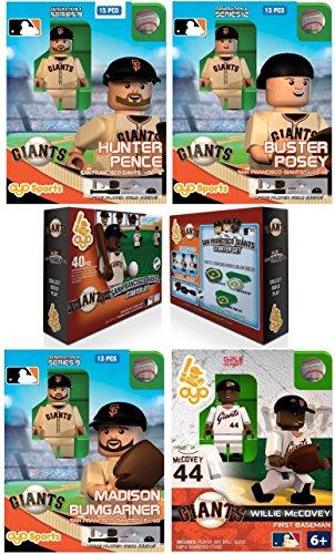 Oyo Sports - MLB Bundle Pack - San Francisco Giants Set 1 Hunter Pence Buster Posey Madison Bumgarner Willie McCovey - plus FREE BONUS Giants Starter Set