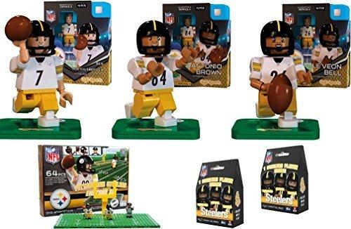 Oyo Sports - NFL Bundle Pack - Pittsburgh Steelers Set  1 Ben Roethlisberger LeVeon Bell Antonio Brown and Steelers