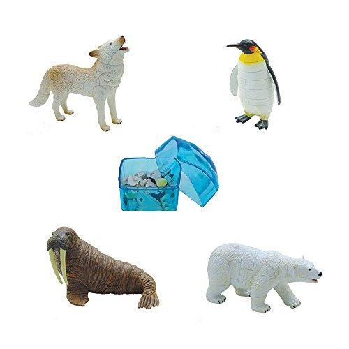 Assorted 4pcsset of Ukenn 3d Polar Life Animal Puzzles Diy Arctic Wolf Penguin Walrus Polar Bear Models Kids Educational Toy 2666