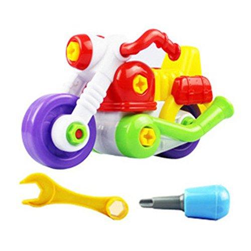 Lisingtool ToysKids Educational toys -Disassembly Assembly Cartoon Motorcycle Toy