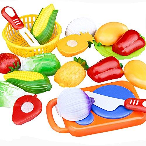 Yoyorule 1Set12Pcs Cutting Fruit Vegetable Pretend Play Children Kid Educational Toy