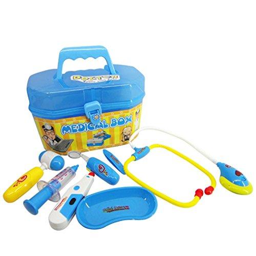 SANNYSIS 12PC Playhouse Toys Docter Hospital Simulation Utensils Kids Christmas Toy Blue
