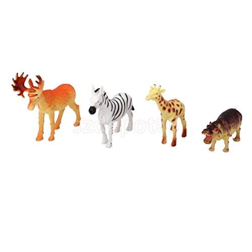 Sangdo 12 Plastic Jungle Zoo Figure Wild Animals Kids Christmas Toy Party Stocking