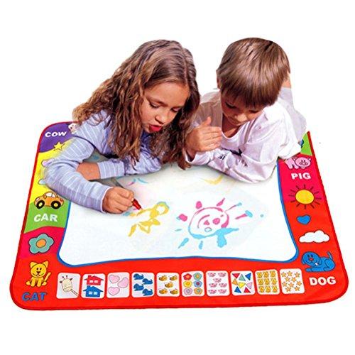 OVERMAL Aqua Doodle Childrens Drawing Toys Mat Magic Pen Educational Toy 1 Mat 2 Water Drawing Pen