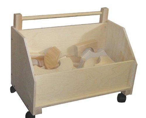 Beka 06201 Kids Wooden Toy Chest On Wheels