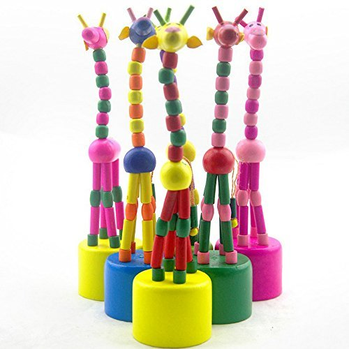 Eonkoo 1 Pcs Baby Kids Wooden Toys Developmental Swing Dancing Standing Rocking Giraffe Gift Toys
