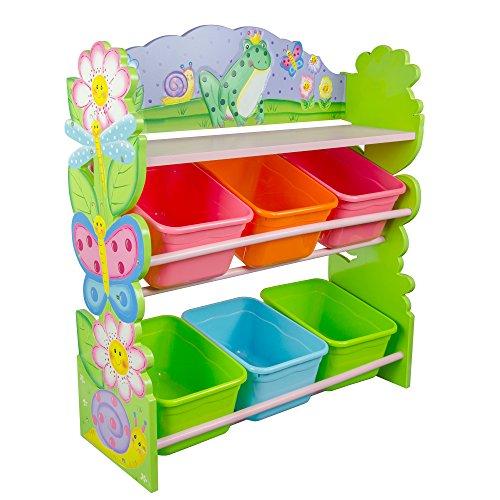 Fantasy Fields - Magic Garden Thematic Kids Wooden Toy Organizer with Storage Bins
