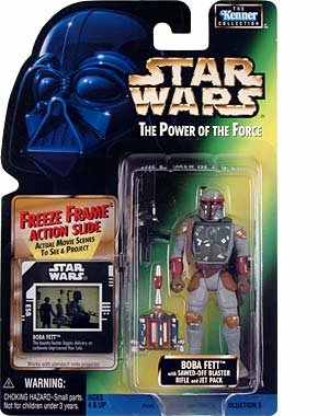 Star Wars Power of the Force Freeze Frame Boba Fett Action Figure