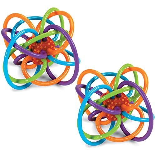 WingoÂ:manhattan Toy Winkel Rattle and Sensory Teether Activity Toy 2pk