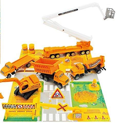 Construction Play Set vehicle Truck shovel car ladder truck
