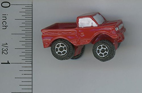 Dollhouse Miniature Childrens Oversized Toy Truck in Red