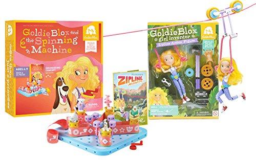 GoldieBlox Zip line and Spinning Machine