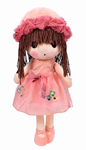 HWD Kawaii Flower Fairy Stuffed Soft Plush Toy Doll Girls Gift  18 Inch  Pink