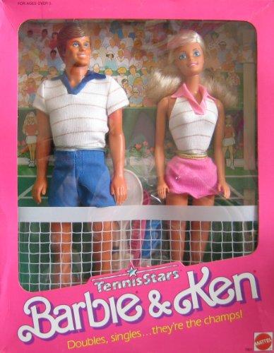 Vintage Barbie Ken Tennis Stars Dolls w Tennis Accessories 1988 Mattel Hawthorne