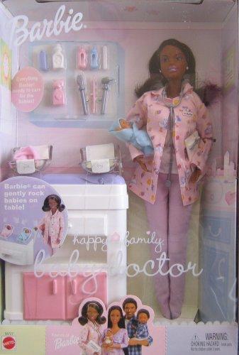 Barbie Happy Family Baby Doctor AA Doll w 2 Baby Dolls 2002