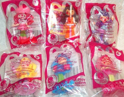 2011 McDonalds Strawberry Shortcake Dolls Complete Set of 6