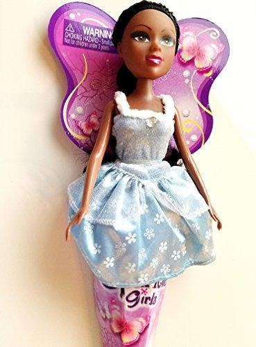 Funville Sparkle Girlz Doll Black Hair Beautiful Ice Blue Snow Dress