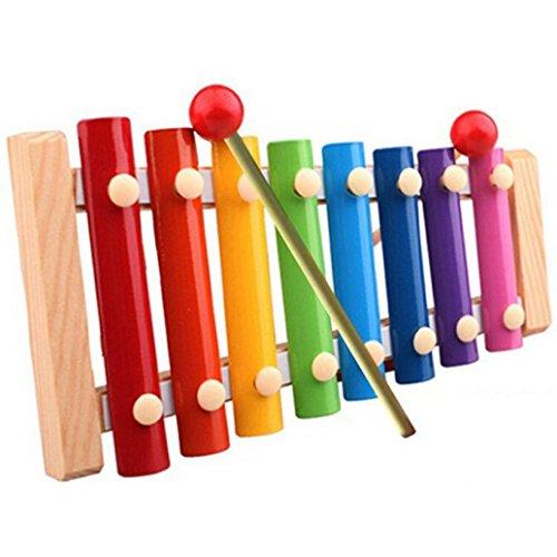 Lisingtool Toys Kids Musical Toys Xylophone Wisdom Development Wooden Instrument