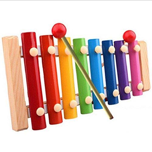 Mokao Baby Kid Musical Toys Xylophone Wisdom Development Wooden Instrument